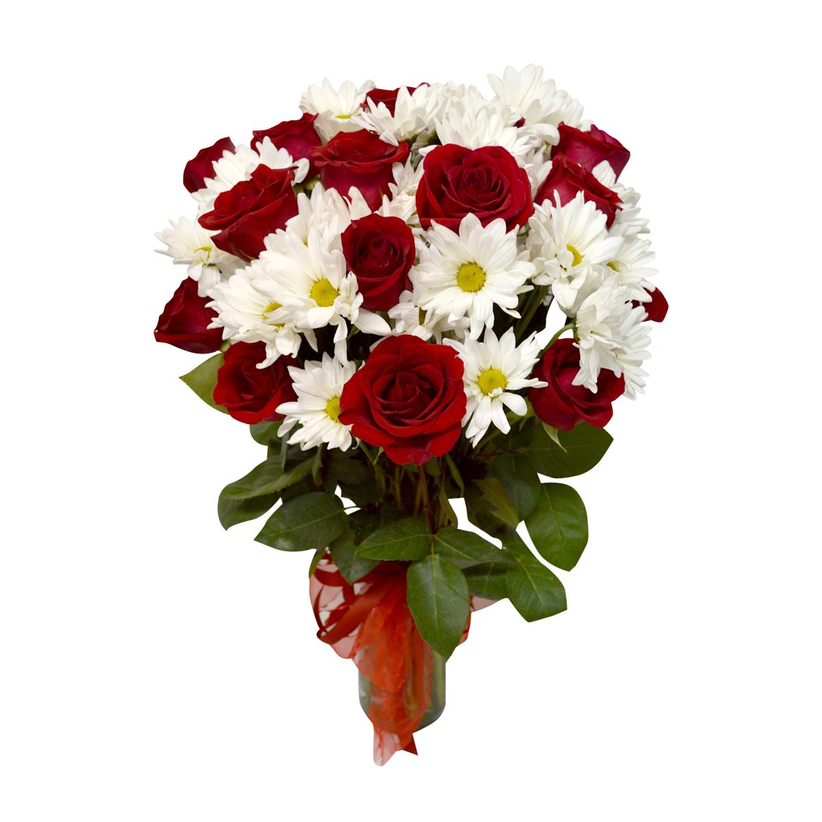 Florero con 24 Rosas mas Mable Margarita
