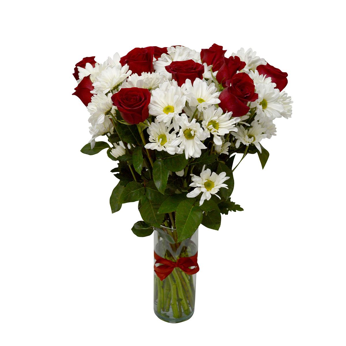 Florero con 12 Rosas mas Mable Margarita