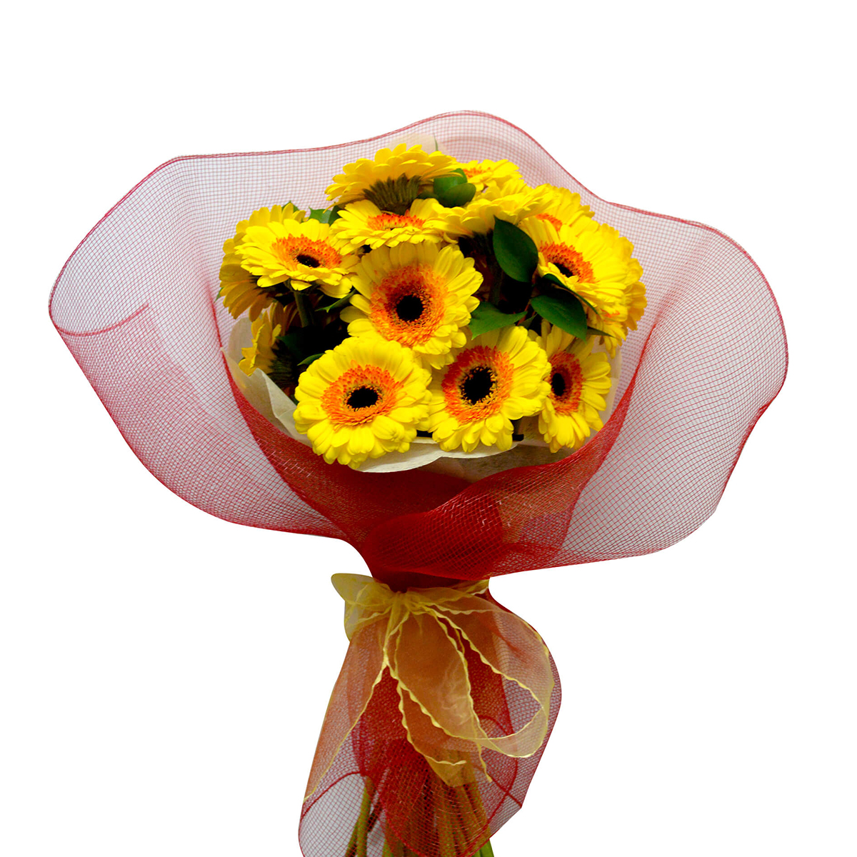 Ramo de 30 Mini Gerberas color Amarillo