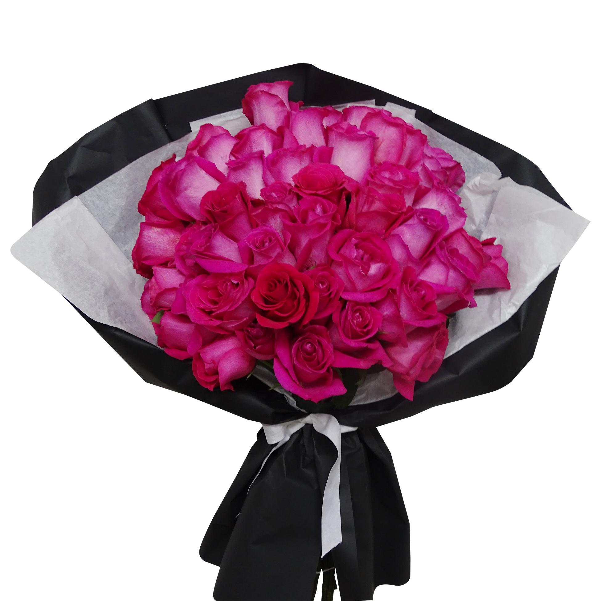 Ramo de 50 Rosas de color Fucsia
