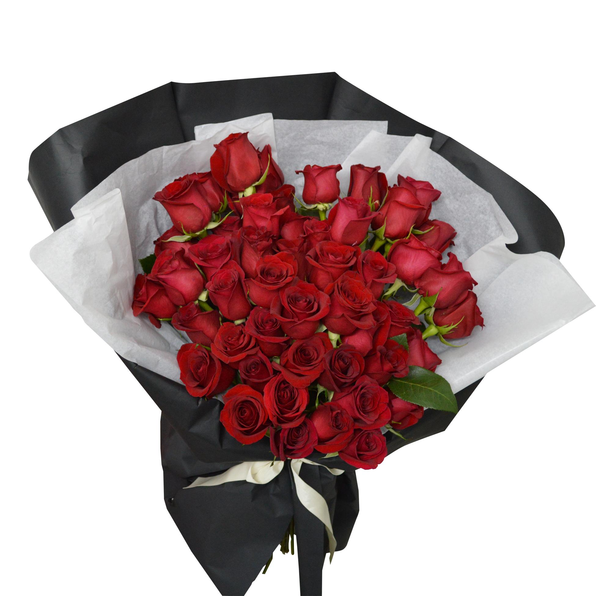 Ramo de 50 Rosas de color Rojo