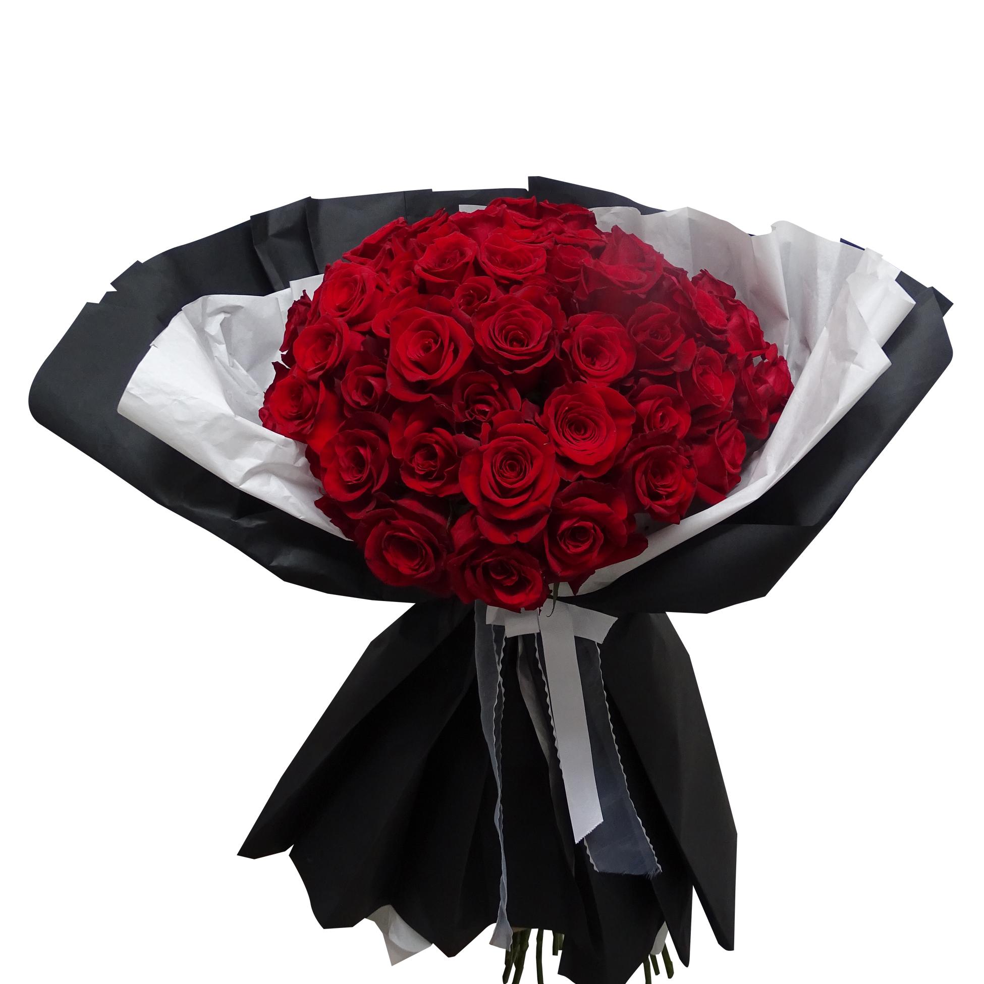 Ramo de 100 Rosas de color Rojo