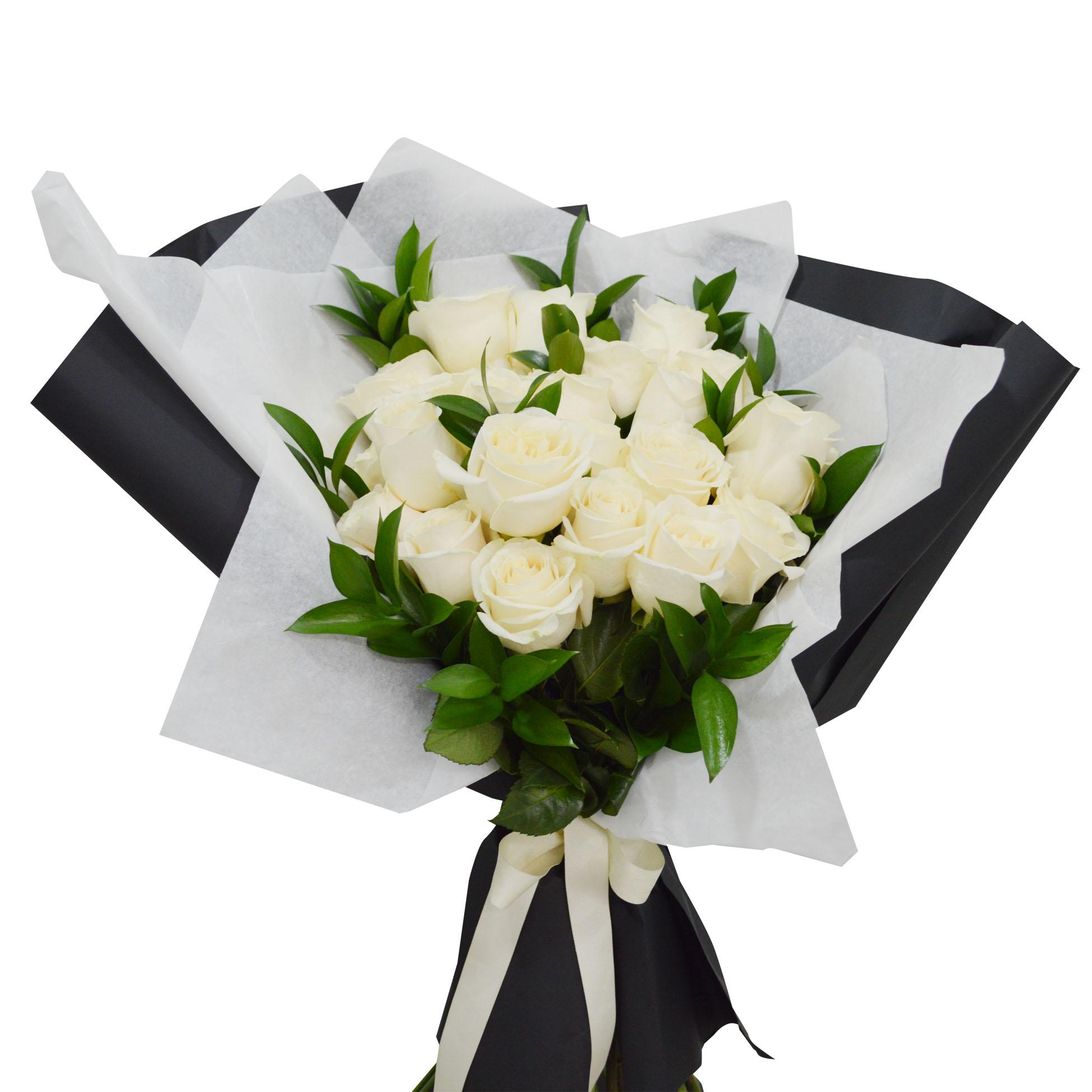 Ramo de 24 Rosas de color Blanco
