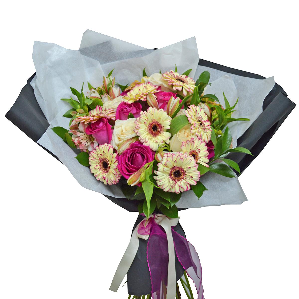 Ramo de flores Mixto con Mini Gerberas y Rosas