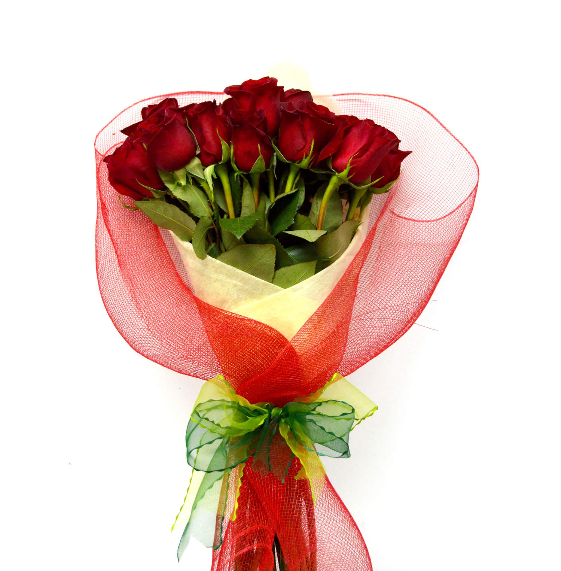 Ramo de 24 Rosas de color Rojo