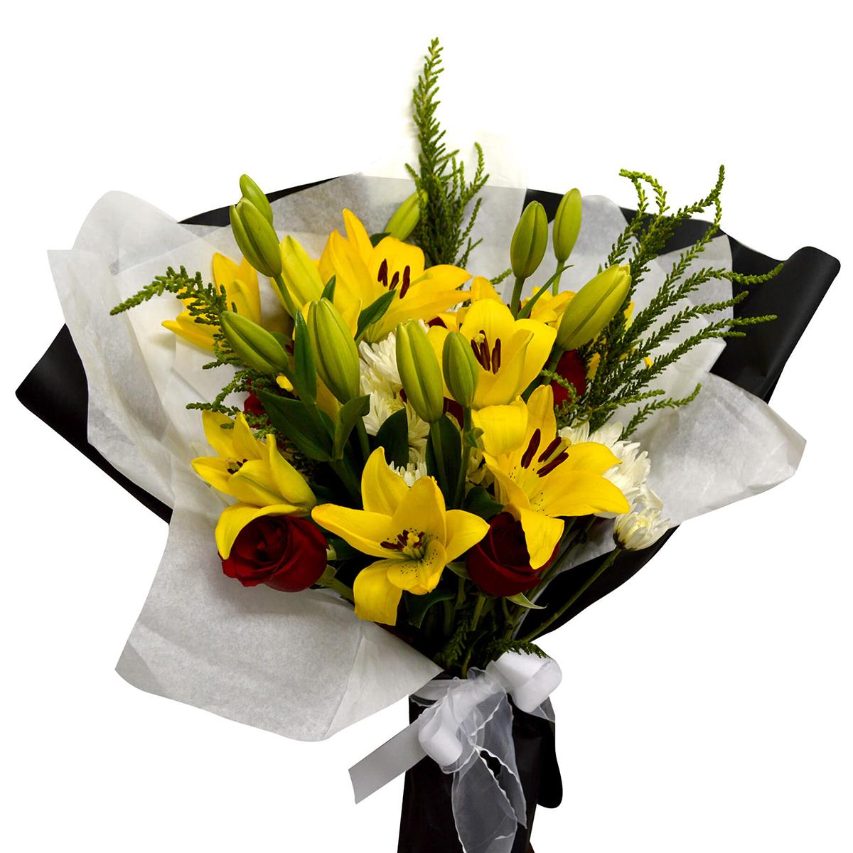 Ramo de flores Mixto con Rosas, Lilium y Mable