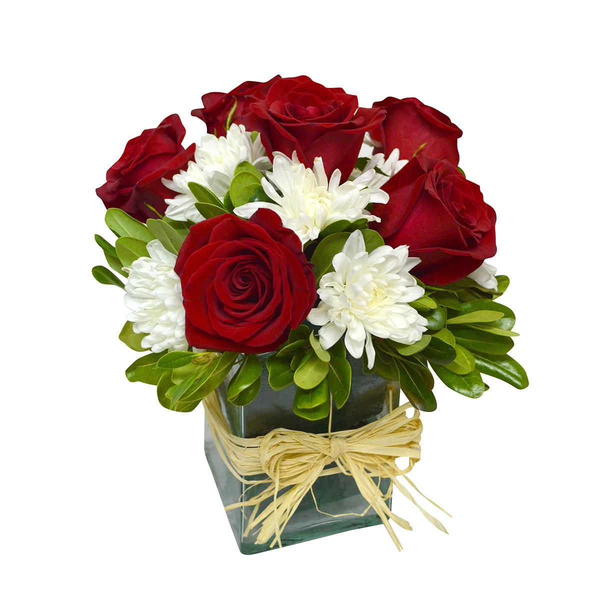 Centros de Mesa con Rosas Rojas y Mables