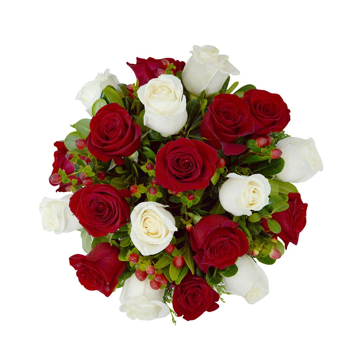 Centros de Mesa con Rosas mas Hypericum