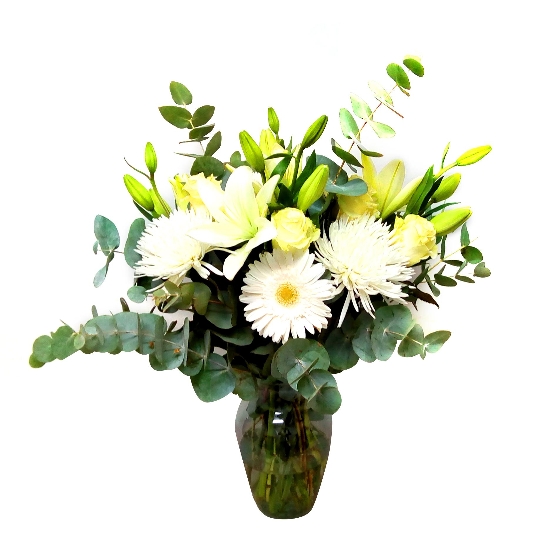 Floreros Mixto con Rosas, Lilium, Spider y Gerberas