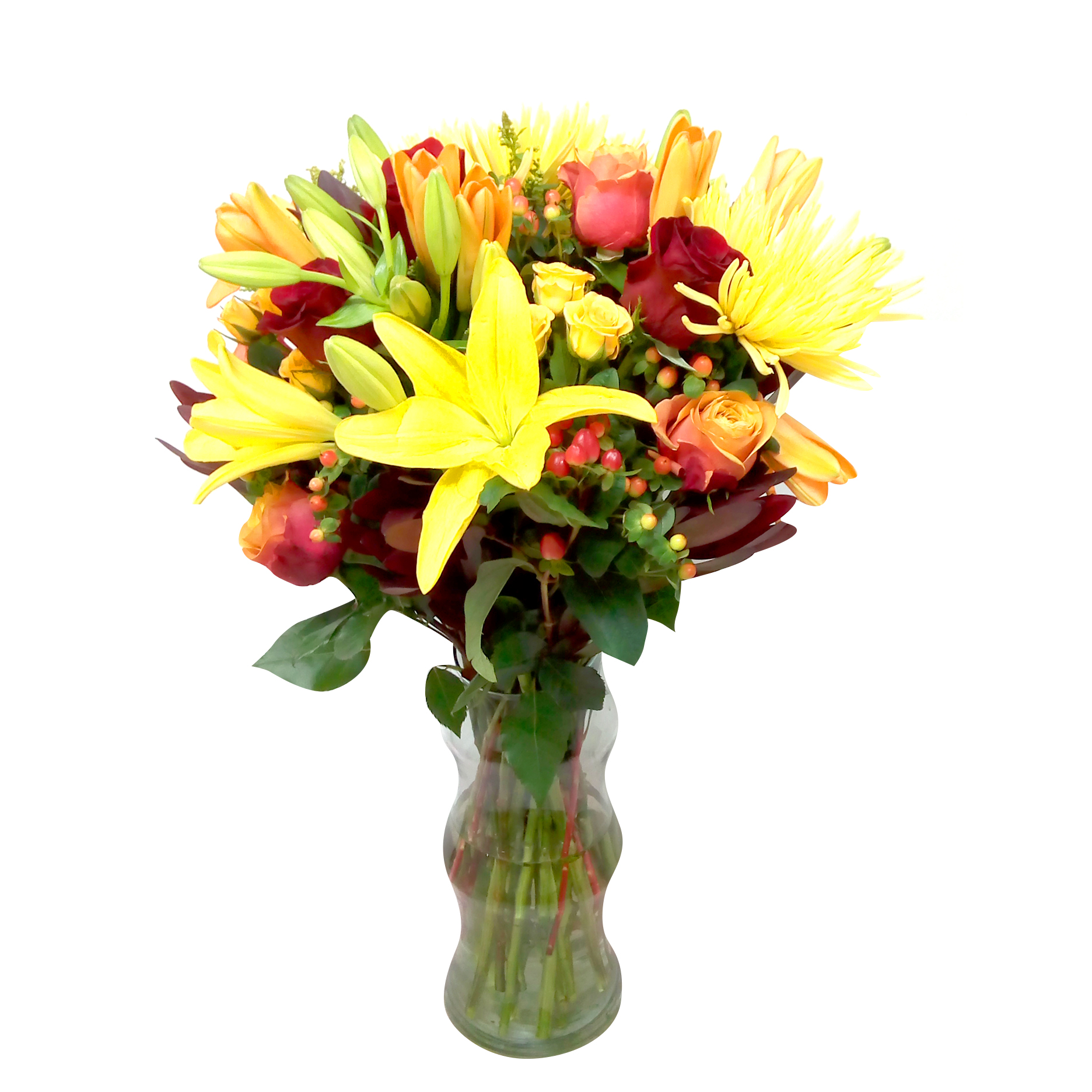 Floreros Mixto con Rosas, Mini Rosas, Lilium mas Spider