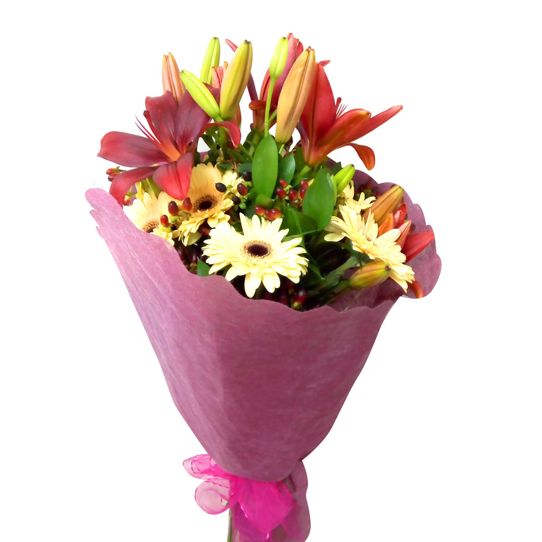 Ramo de flores Mixto con Gerberas y Lilium
