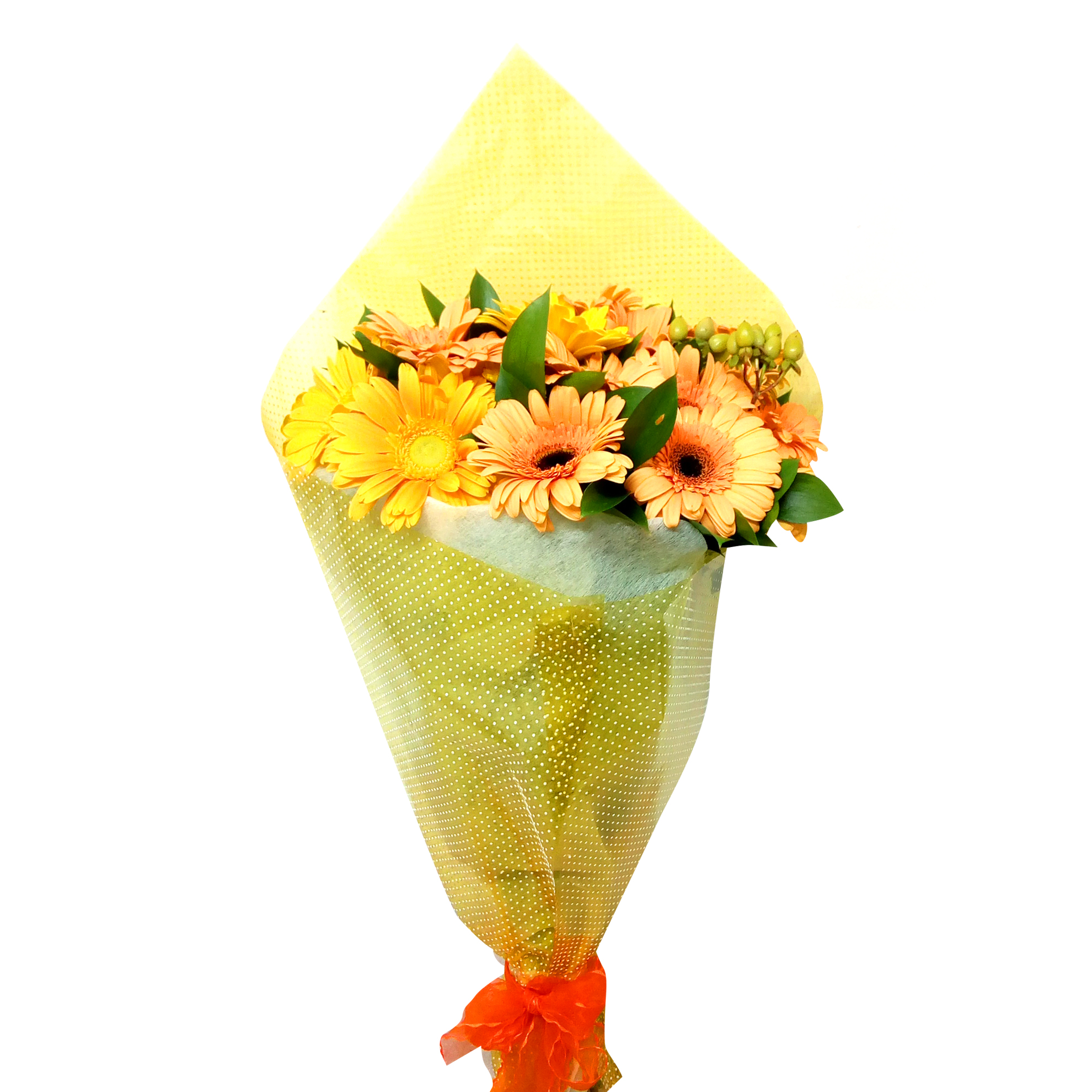 Ramo de flores Mixto con Gerberas, Mables mas Hypericum