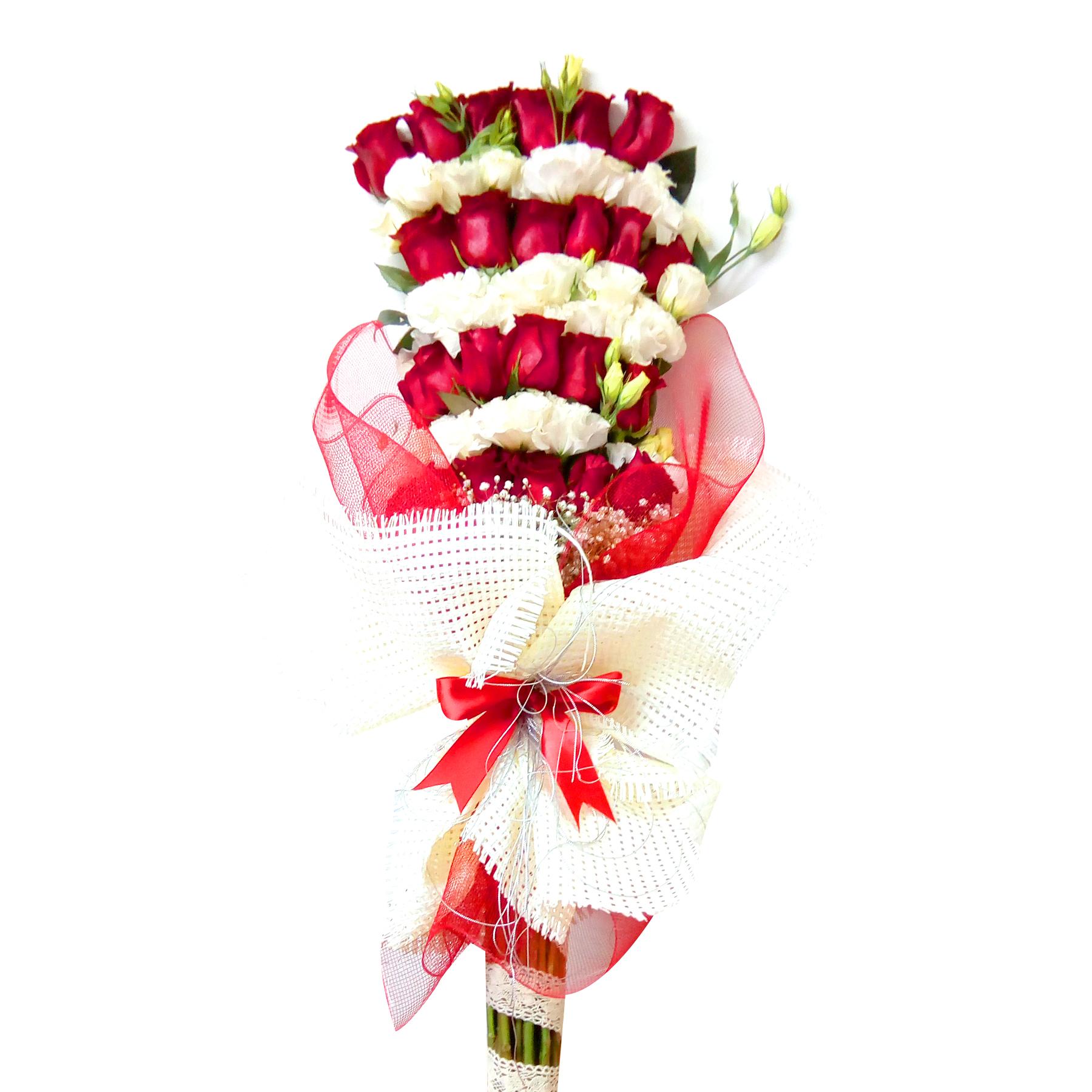 Ramo de flores Mixto con Rosas y Lisianthus