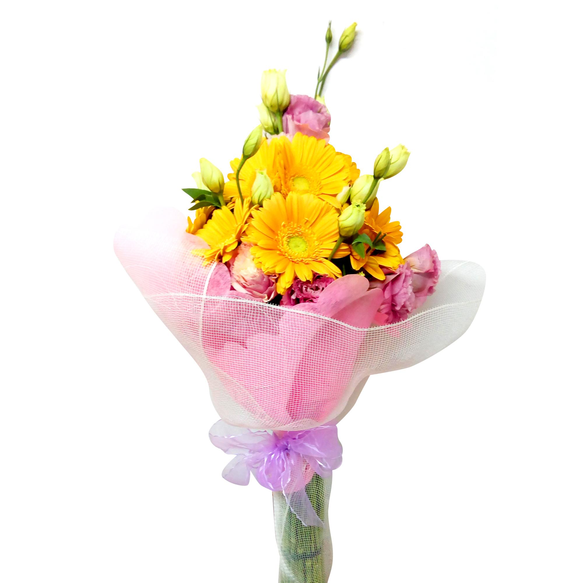 Ramo de flores Mixto con Gerberas y Lisianthus