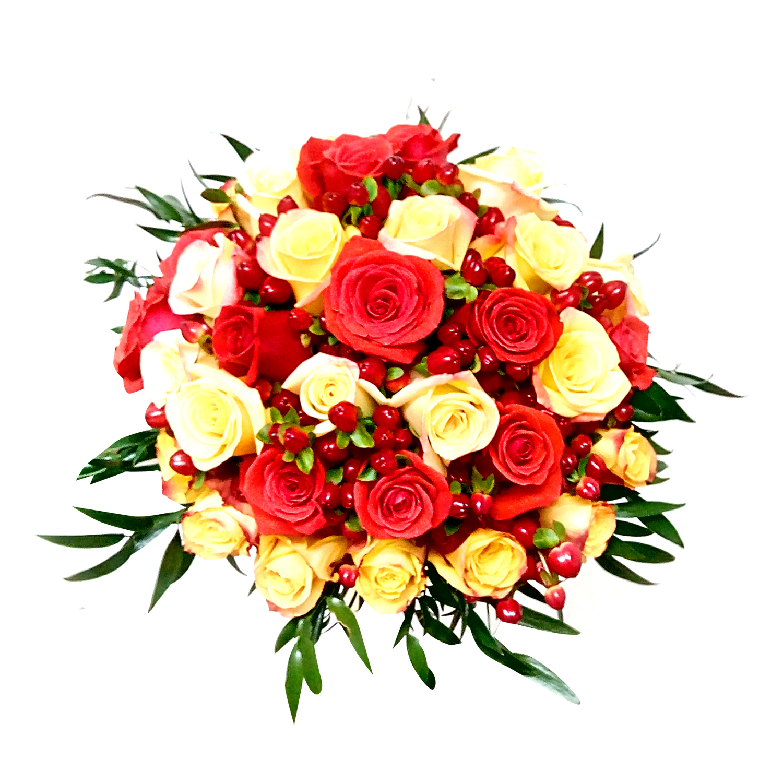 Ramo de novia con Mini Rosas mas Hypericum