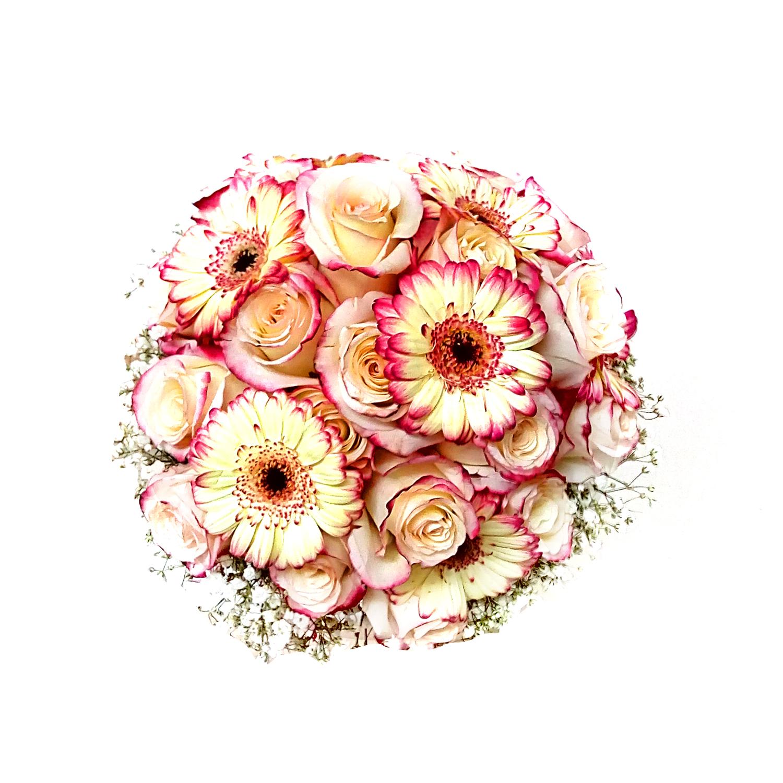 Ramo de novia con Mini Gerberas y Rosas