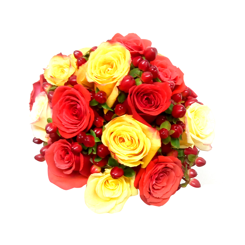 Ramo de novia con Rosas mas Hypericum