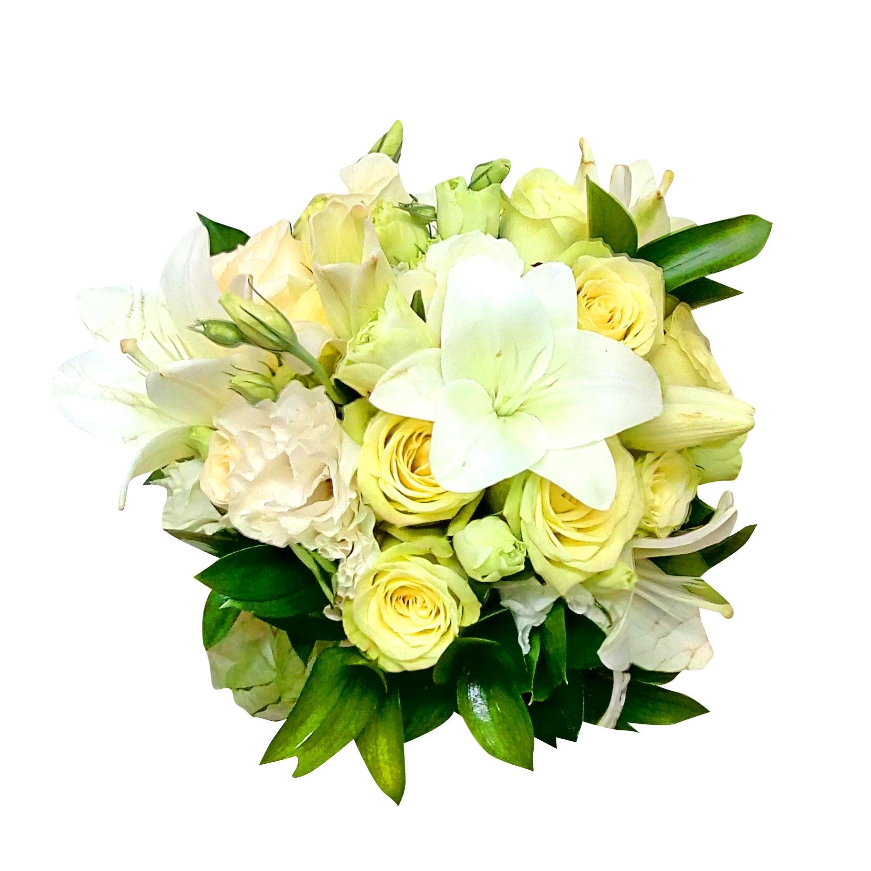 Ramo de novia con Rosas y Lisianthus