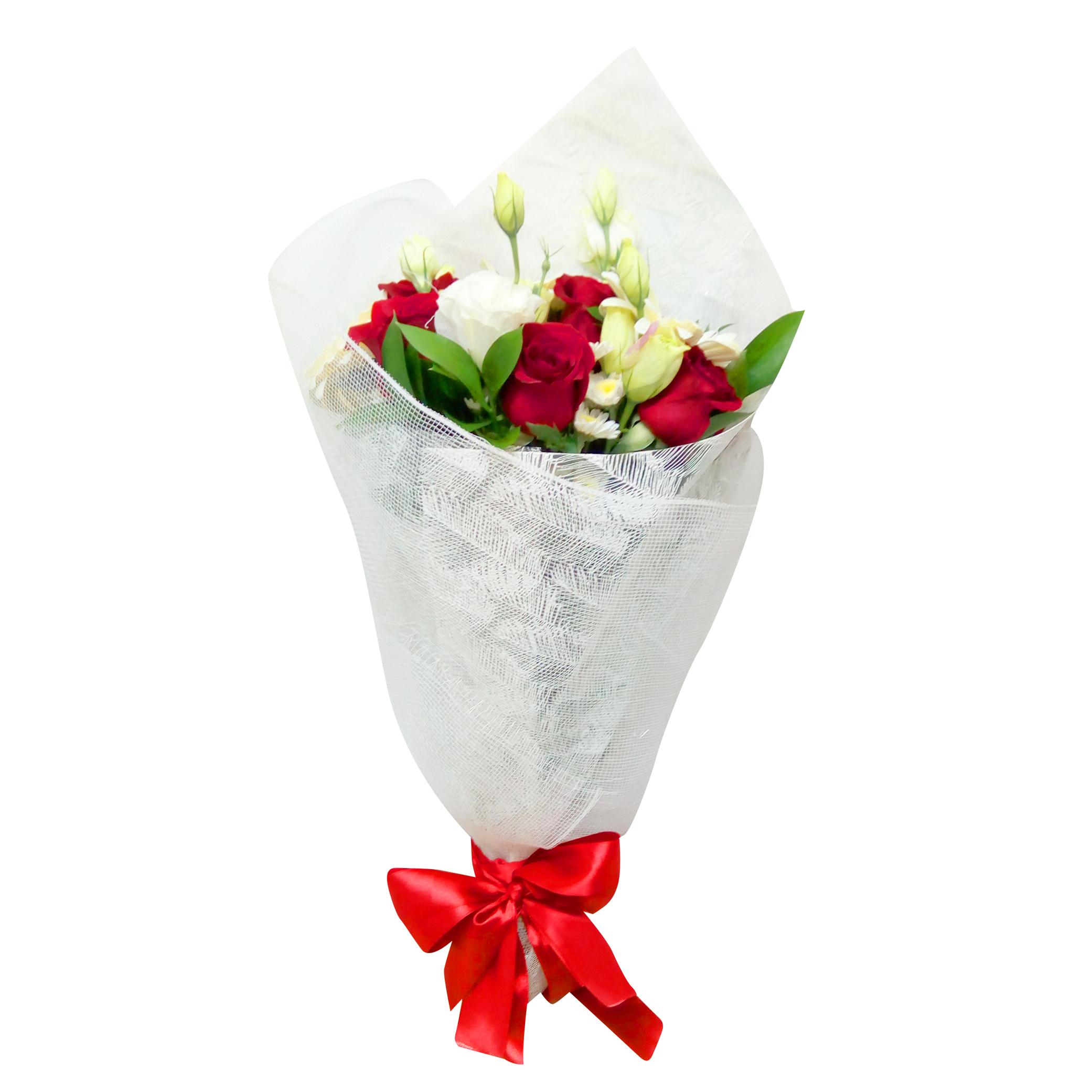 Ramo de flores Mixto con Gerberas, Rosas mas Lisianthus