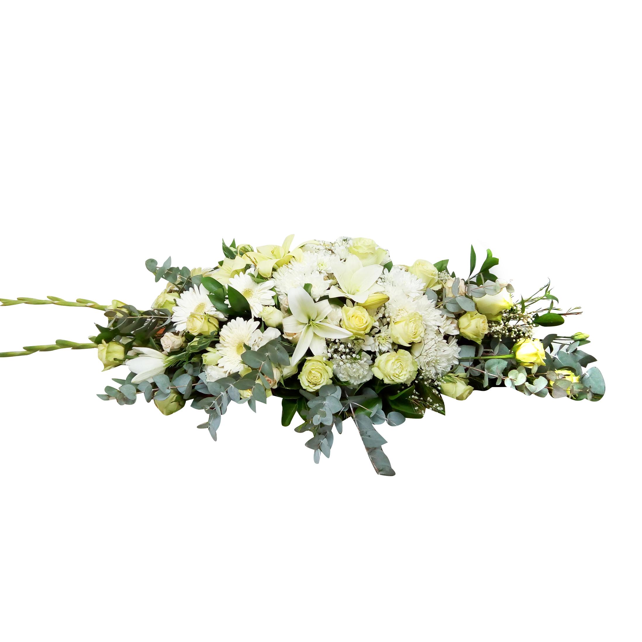 Cubre Urna con Rosas, Lisianthus y Lilium